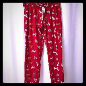 Old Navy Maternity Flannel Dog PJ Pants